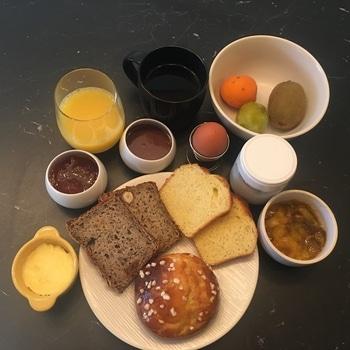 Petit déjeuner table d'hôtes Tarn