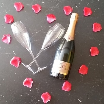 Champagne dans votre chambre